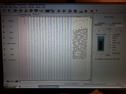 O código hexadecimal está nessa tela. Eu não entendo lhufas, deixo isso para vocês programadores