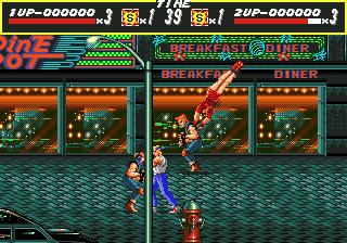 A Sega tinha esmero com detalhes, repare o poste em primeiro plano
