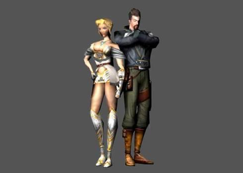 Sonia e Victor Belmont, no cancelado Castlevania Resurrection, para Dreamcast