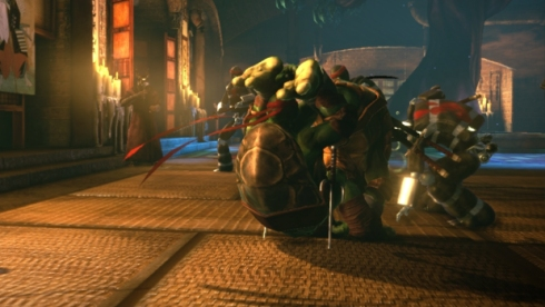 Bola de boliche usada por Michelangelo e Raphael no primeiro filme também foi lembrada em OoTS